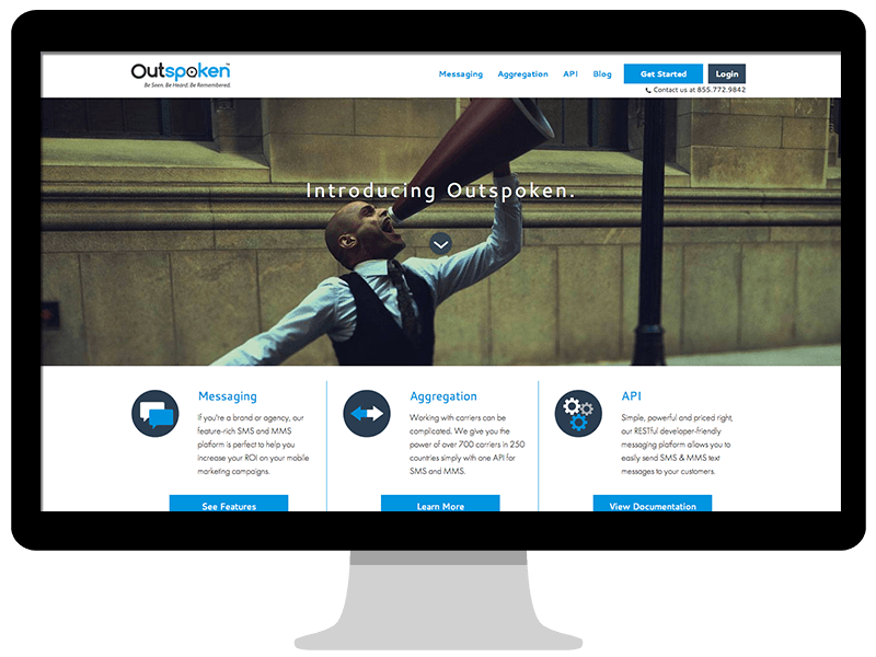 Outspoken homepage