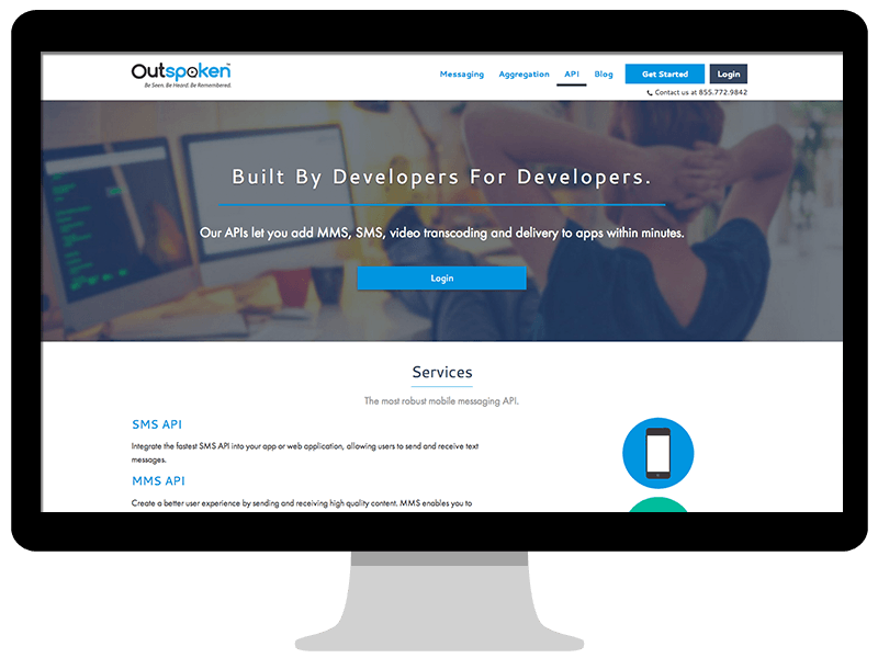Outspoken developer's page